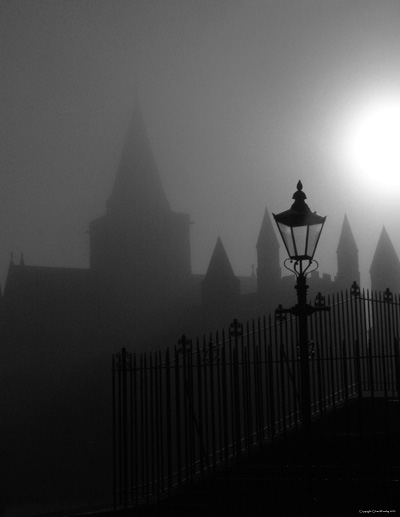 Rochester Cathedral Foggy Day
