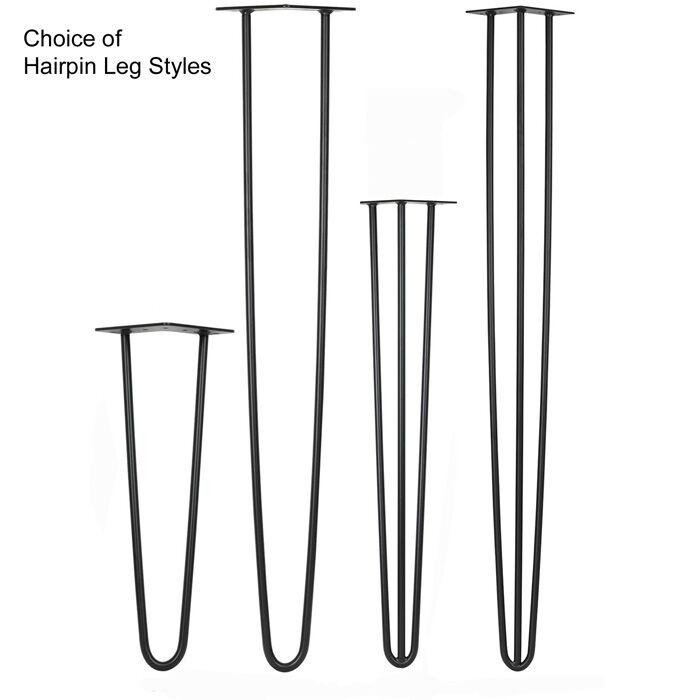 3 bar and 2 bar hairpin legs for tables and benches