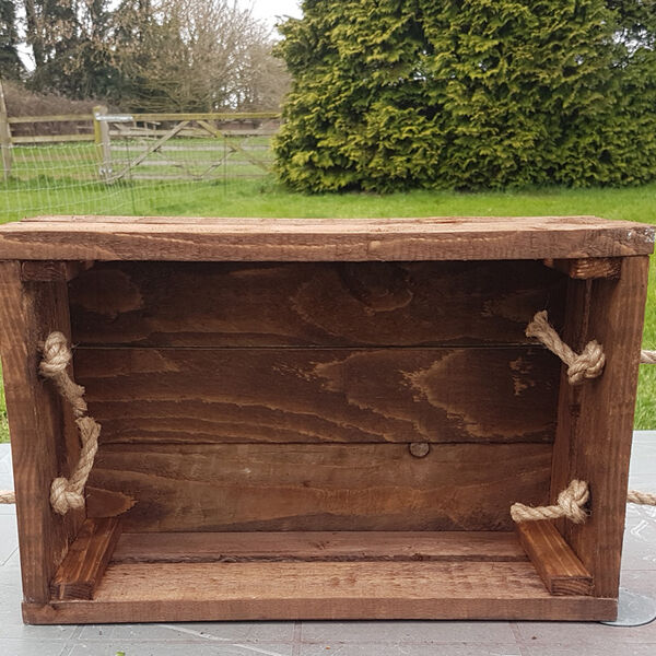 inside rope handled crate box