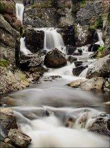 BC slate waterfalls