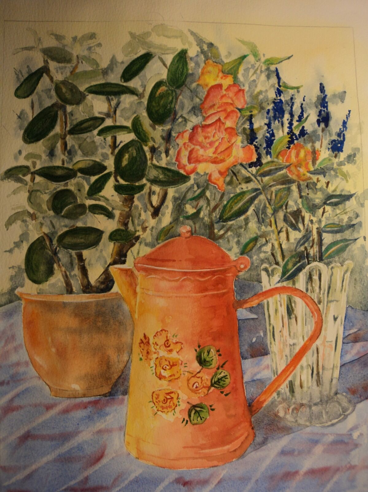 Red Jug and Money plant