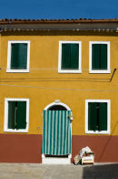 Burano House with Green Flap