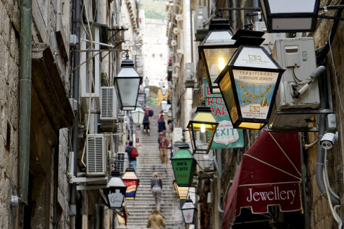 'Streetlights' Dubrovnik.