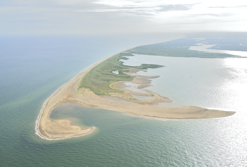 Aerial view of Scolt Head Island North Norfolk coast