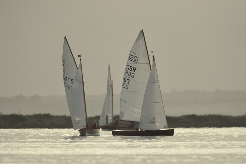 Sharpie racing in Brancaster Harbour