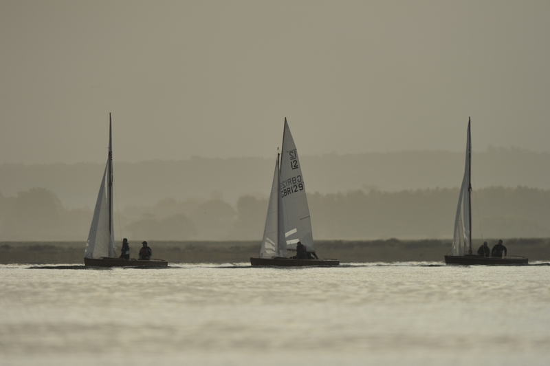 Sharpie racing in Brancaster Harbour