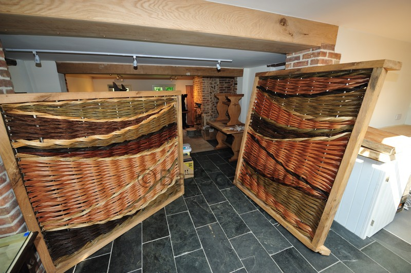 Interior woven willow panels by burnham willow