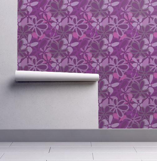 Elegant Deep Purple Florals