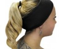 Black Cotton Velcro Headband €4.50