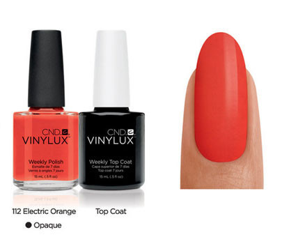 CND Vinylux Electric Orange #112 €12