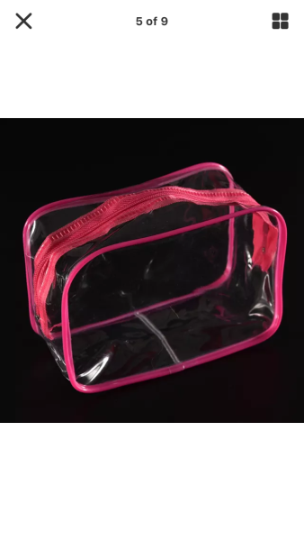 Clear Plastic Zipped Bag €4.95