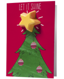 Let It Shine Christmas Tree Bath Blaster Greeting Card €4.95
