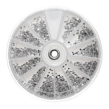 Silver Diamonte Nail Art Wheel €6