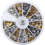 Nail Studs (Silver & Gold Mixed) Wheel €3.95