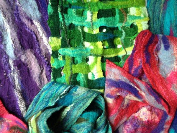 Merino wool & silk scarves