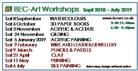 September 2018- July 2019 Class - Monthly Workshops