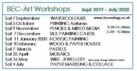 Workshops Programme for 2020