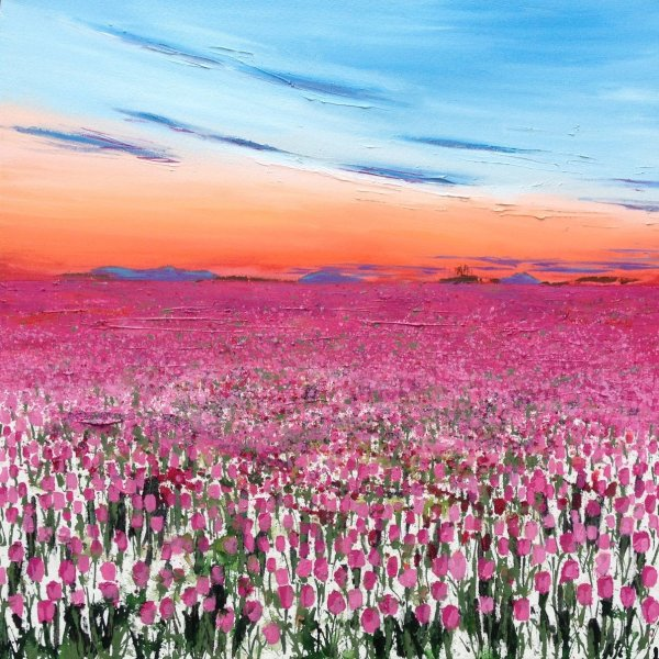 Dusk over the Tulipfield card