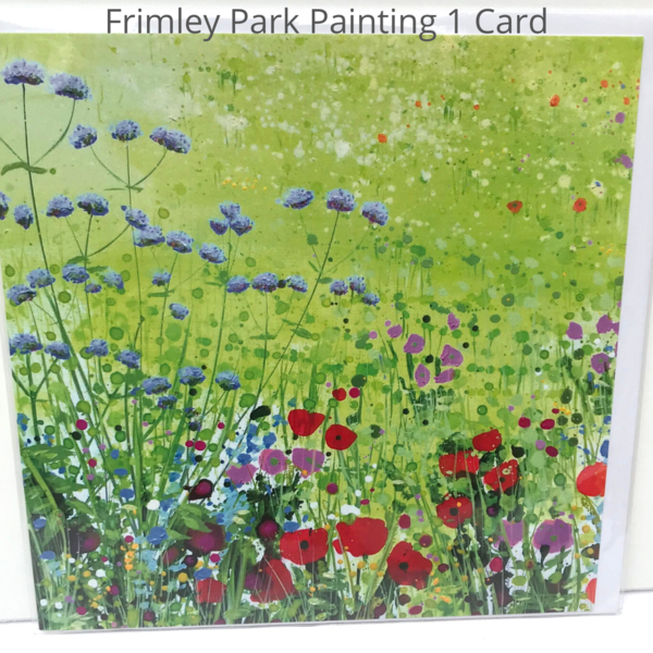 Frimley Park Hospital NHS Foundation Trust Triptych in Ward F14 card - detail painting 1