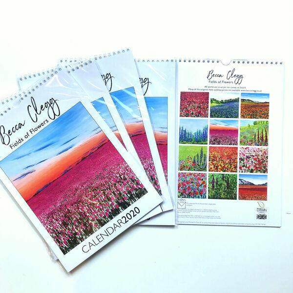 Becca Clegg Field of Flowers Calendar 2020 gift