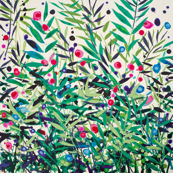 Becca Clegg Cromer Grasses Ivory Green Pink wildflowers