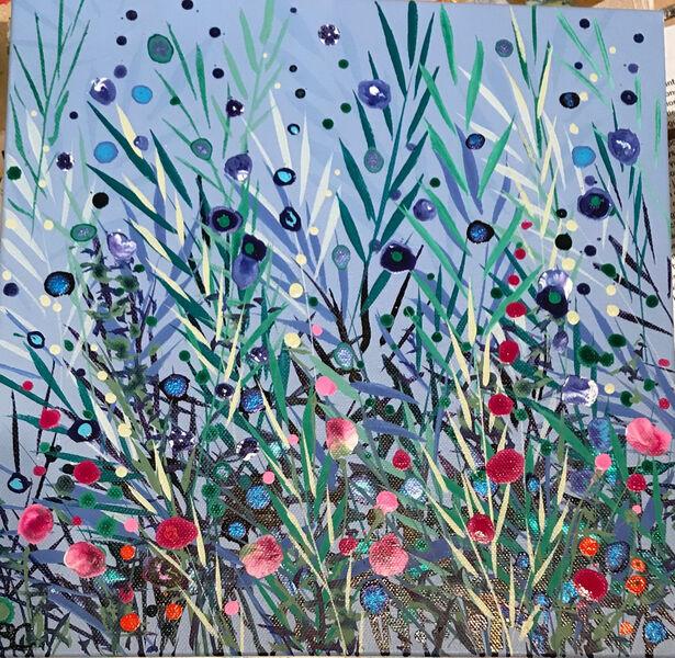 Becca Clegg Cromer Grasses Cornflower Green Pink wildflowers