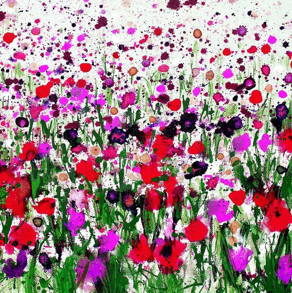 Splatter flowers Becca Clegg