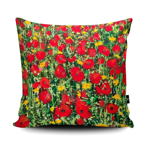 Becca Clegg Polly Joke Poppies and Corn Marigolds Cushion