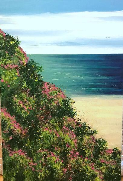 coast Becca Clegg Gorse Sea Pinks Exmoor