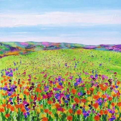 Field with Orange Poppies card