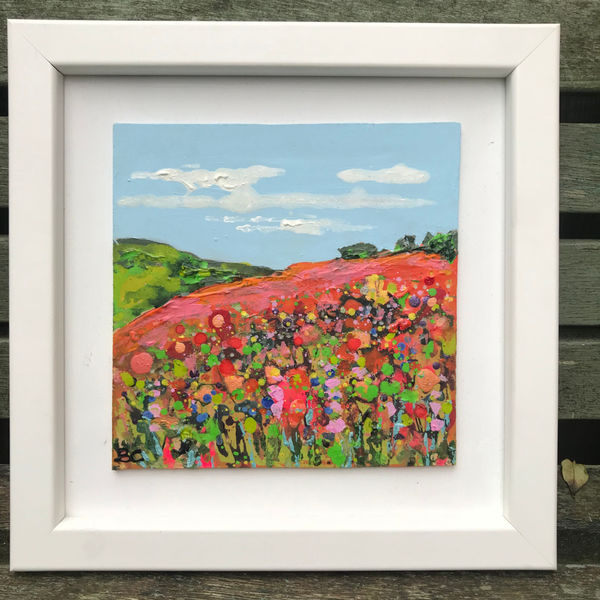 Flowery Fields Forever image size approximately 14.5cm square was £79 now during January Sale £49