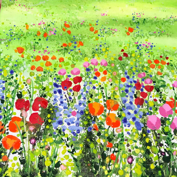Green Meadow Flowers Becca Clegg