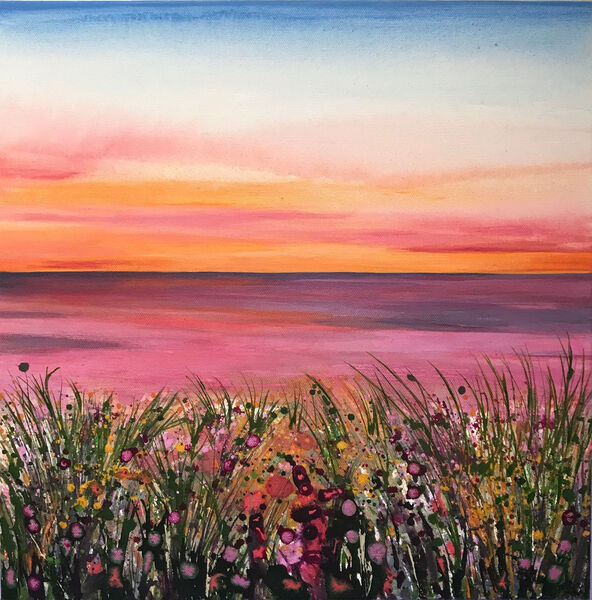 Becca Clegg Sunset at Gwithian beach,Cornwall