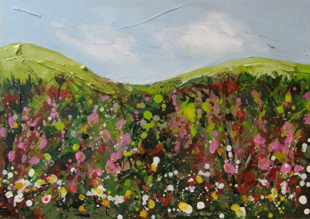 Hedgerow acrylic painting