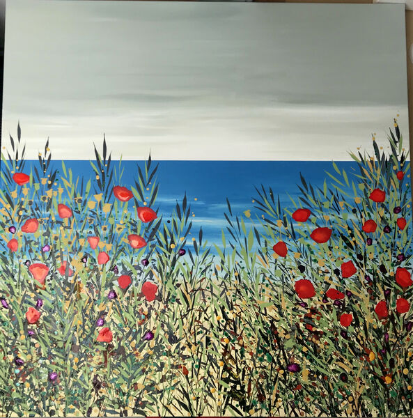 Cromer Poppies and Grasses Becca Clegg colourful