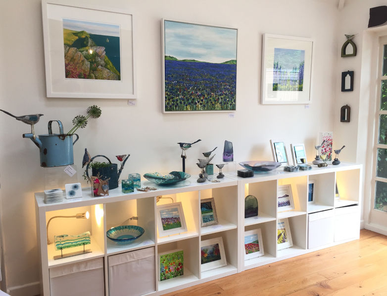 Painting Boscastle Cornflowers Becca Clegg Naomi Beevers Louisa sulivan