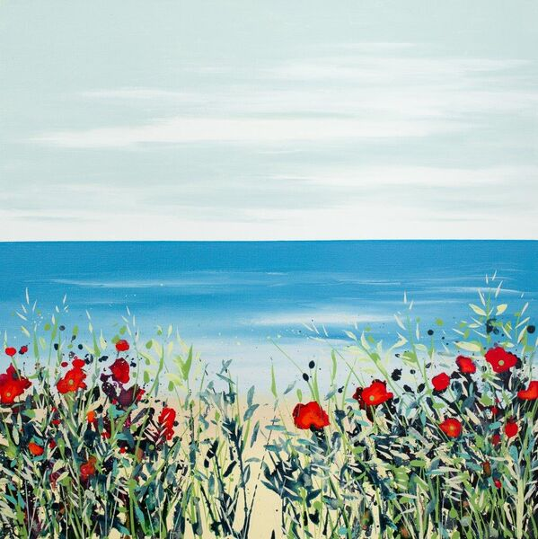 Poppies and Grasses Becca Clegg colourful