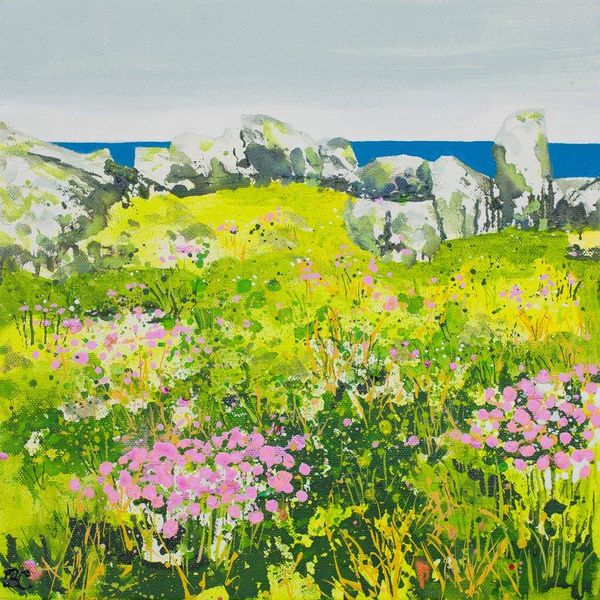 Sea Pinks, Sea View: St Ives Giclee Print