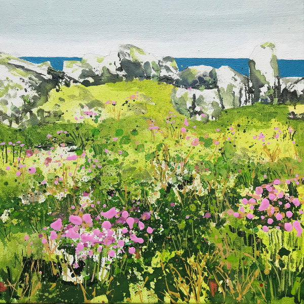 Sea Pinks, Sea View: St Ives Painting