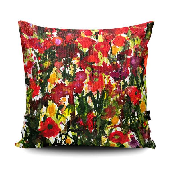 Becca Clegg Landau Poppies and Wildflowers Cushion