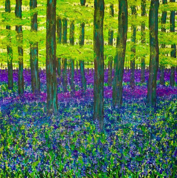 Bluebell Wood Giclee Print