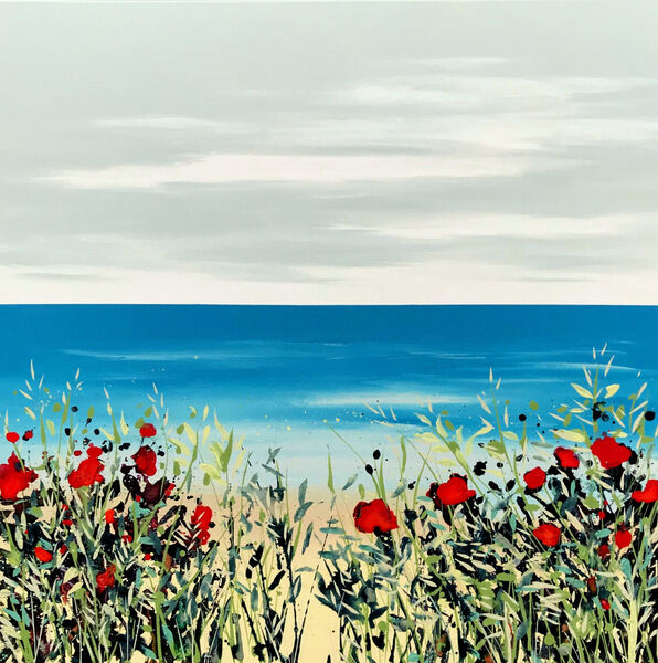 Poppies and Grasses Cromer 60cm