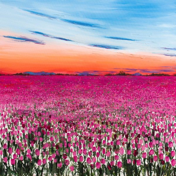 Dusk over the Tulipfield Giclee Print