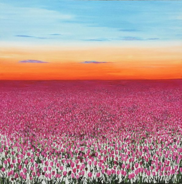 Pink Tulips at Dusk