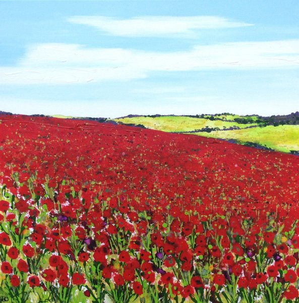 Poppies on the Hill Giclee Print