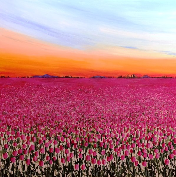 Dusk over the Tulipfield II 2017