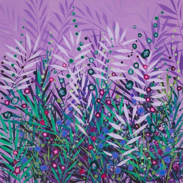 Becca Clegg Cromer Grasses Turquoise purple Green Pink wildflowers