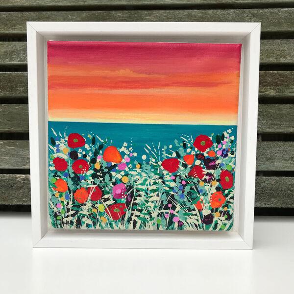 orange sky Poppies Sea Becca Clegg