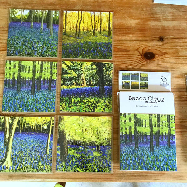 bluebells woodland spring Becca Clegg painting chantry wood Guildford Surrey