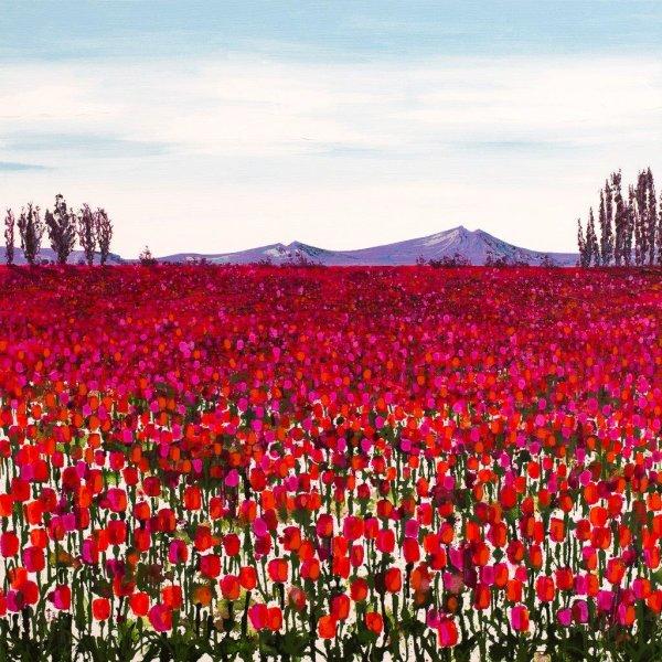 Orange and Pink Tulips Giclee Print